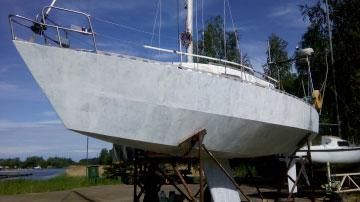 Окраска лодки